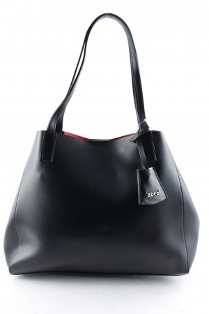 "abro Henkeltasche ""Handbag Leather Double Black/ Red"""
