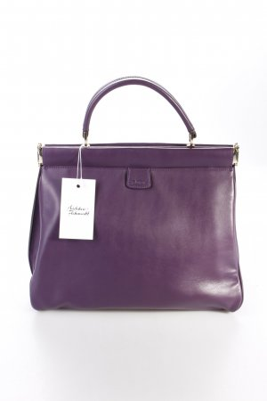 Abro Henkeltasche Handbag Leather Match Purple