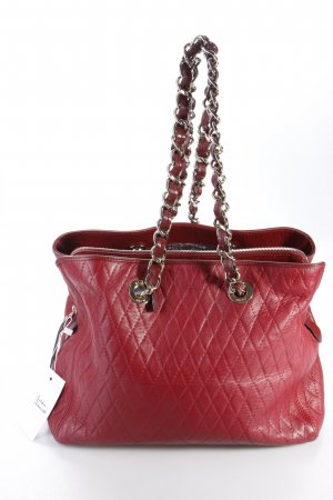 Abro Henkeltasche Handbag Leather Match Trapezium Ruby dunkelrot