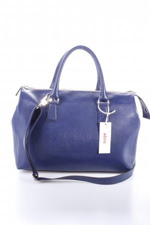 "abro Henkeltasche ""Handbag Saffiano Leather Round Wind Royal"" dunkelblau"
