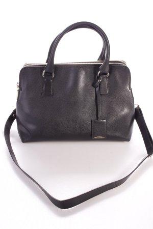 """abro Henkeltasche """"Handbag Saffiano Leather Wind Black"""" schwarz"""