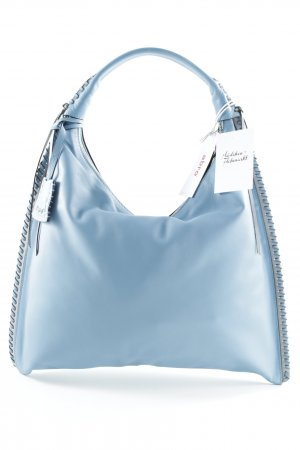 "abro Henkeltasche ""Leather Velvet Hobo Bag Dreamblue/Grey"" kornblumenblau"