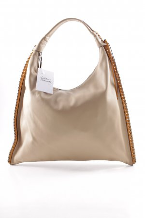 "abro Henkeltasche ""Leather Velvet Hobo Bag Natural/Orange"""