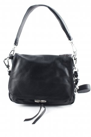 "abro Sac Baril ""Velvet Shoulder Bag Black/Nickel"" noir"