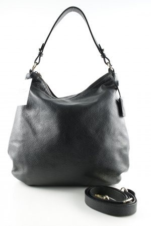 "abro Hobos ""Adria Leather Hobo Bag Black/Gold"""