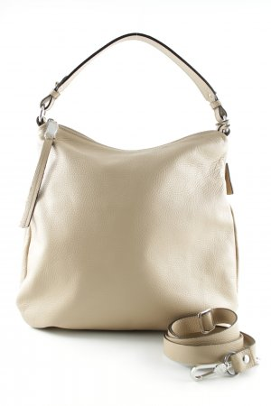 "abro Hobotas ""Adria Leather Hobo Bag Natural"" beige"