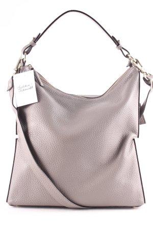 "abro Bolsa Hobo ""Newton Hobo Bag Leather Zinc"" gris"