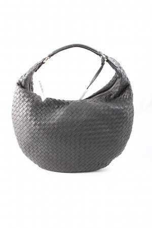 "abro Hobotas ""Pluma Nappa Leather Hobo Bag Grey"" donkergrijs"