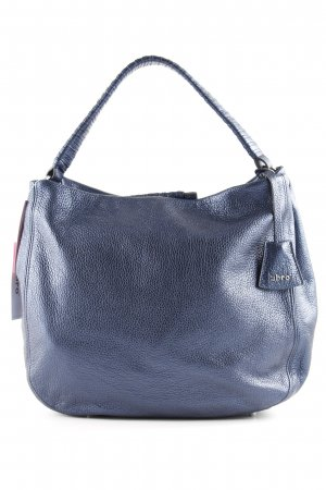 "abro Hobotas ""Shimmer Leather Hobo Bag Navy"" donkerblauw"