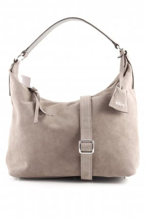 "abro Hobos ""Suede Hobo Bag Zinc"" grey brown"