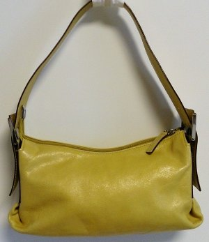 abro Carry Bag lime yellow leather