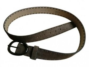 abro Belt brown red leather