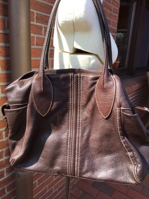 abro Carry Bag dark brown leather