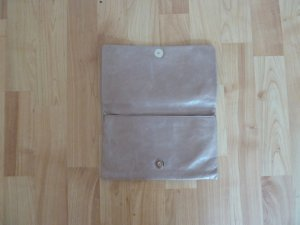 abro Clutch beige leather