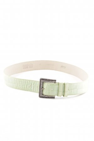 abro Leather Belt green animal pattern casual look