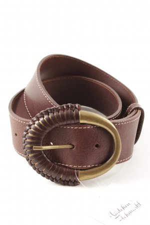 abro Leather Belt brown red casual look