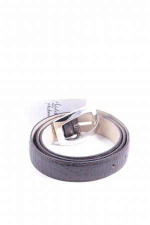 abro Leather Belt dark brown casual look