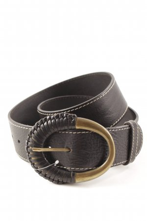 abro Leather Belt black casual look