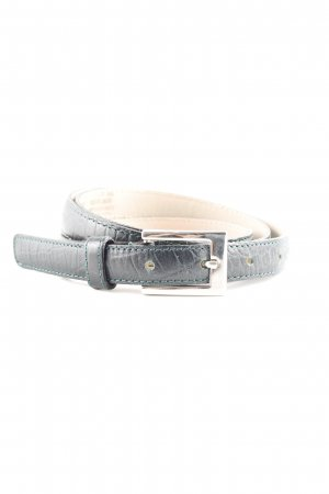 abro Leather Belt black-forest green reptile print