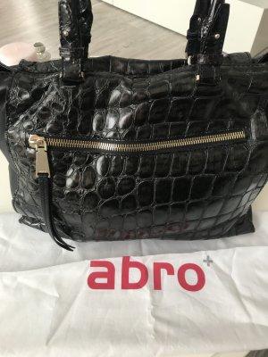 abro Handbag black brown-dark brown