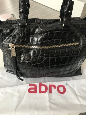 abro Handbag black brown-dark brown
