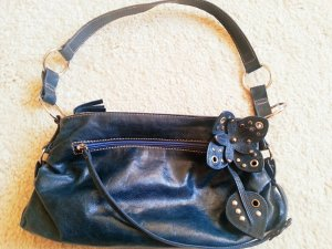 abro Shoulder Bag blue leather