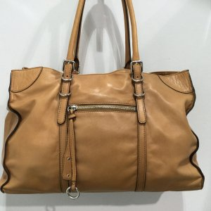 abro Carry Bag beige leather