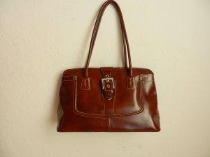 Abro Lederhandtasche mit Schnalle