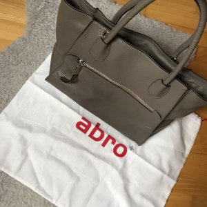 abro Bolso barrel gris-color plata