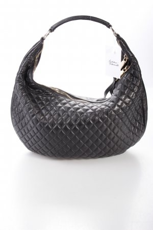 Abro Pluma Trapuntata Leather Black Hobo schwarz