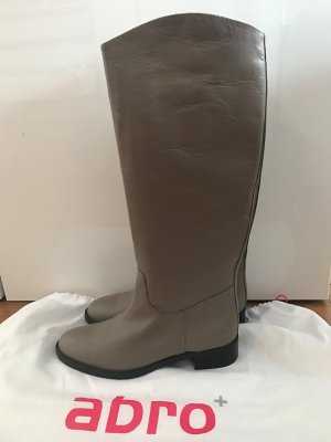 abro Riding Boots grey brown leather