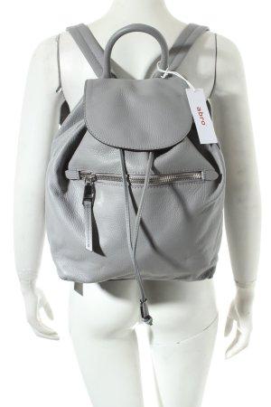 """abro Rucksack """"Adria Calf Leather Backpack Grey"""" hellgrau"""