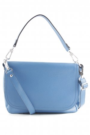 "abro Satchel ""Adria Calf Leather Satchel With Flap Jeans"" steel blue"