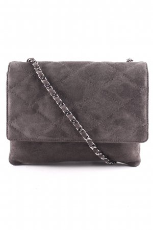 "abro Satchel ""Kaleido Quilted Satchel Suede Grey"" antraciet"