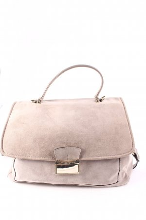 "abro Satchel ""Suede Leather Satchel Taupe"" grau"