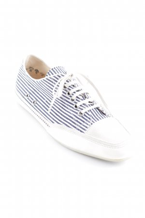 abro Lace Shoes white-steel blue striped pattern casual look