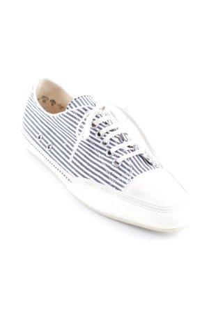 abro Zapatos brogue blanco-azul acero estampado a rayas look casual