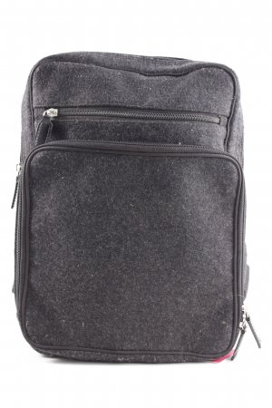 abro School Backpack light grey flecked casual look