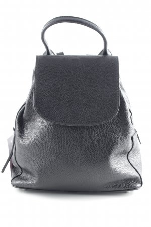 "abro School Backpack ""Adria Leather Backpack Black/Nickel"" black"