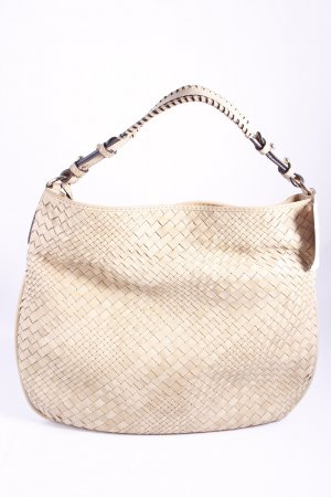 abro Schultertasche creme Webmuster Casual-Look
