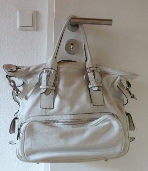 Abro Schultertasche / Handtasche weiß