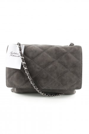 "abro Shoulder Bag ""Kaleido Quilted Satchel Suede Grey"""