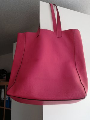 abro Shopper magenta-raspberry-red leather