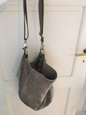 abro Shopper light grey-grey suede