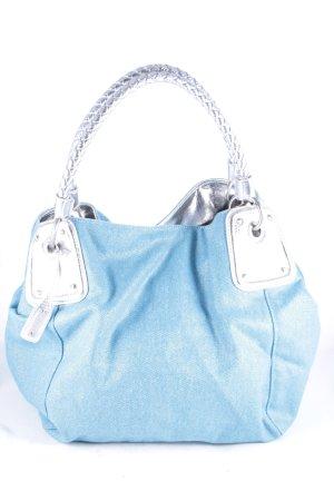 abro Shopper hellblau-silberfarben minimalistischer Stil