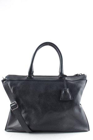 "abro Shopper ""Newton Leather Tote Black/Guncolor"" schwarz"