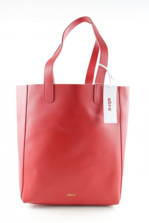 "abro Shopper ""Ruga Shopping Bag Calf Leather Red"" red"