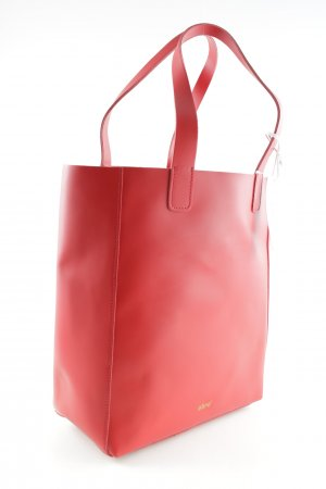 "abro Shopper ""Ruga Shopping Bag Calf Leather Red"" rot"