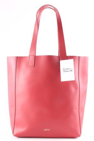 "abro Shopper ""Ruga Shopping Bag Calf Leather Red"" rot"