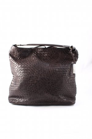 "abro Shopper ""Winter Macchiato Braided Handbag Dark Brown"" dunkelbraun"